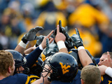 West Virginia University - West Virginia Huddle Fotografisk tryk