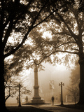University of Mississippi (Ole Miss) - Fog Settles in Oxford Photographic Print