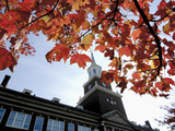 University of Cincinnati - Fall Leaves and McMicken Tower Fotografisk tryk