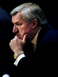 University of North Carolina - Coach Dean Smith Photographic Print by Durham Herald-Sun