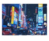 New York City Times Square Traffic and City Lights Premium Giclee Print by Markus Bleichner