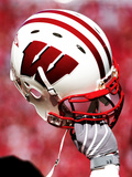 University of Wisconsin - Wisconsin Helmet Prints by  Madison / University Communications