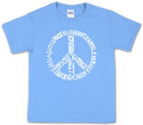Youth: Peace T-Shirt Word art Bluse