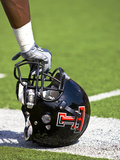 Texas Tech University - Red Raider Helmet Fotografisk tryk af Michael Strong
