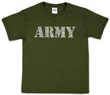Youth: Army Word Art Shirts