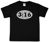 Youth: John 3:16 Word art T-shirty