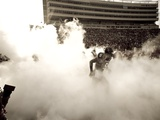 Texas Tech University - Raiders Emerge from the Fog Photographic Print by Michael Strong