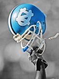 University of North Carolina - UNC Helmet Photographic Print
