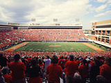 Oklahoma State University - A Sea of Orange Fills Boone Pickens Stadium Fotografisk tryk