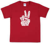 Youth: 'Give Peace a Chance' Peace Fingers Shirts