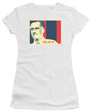 Juniors: Mitt Romney - Believe Again T-shirts