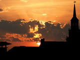 University of Cincinnati - Sunset Beyond McMicken Hall Photographic Print