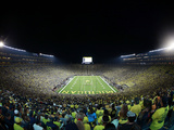 University of Michigan - Under the Lights, Endzone View Fotografisk tryk
