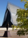 Air Force Academy - Cadet Chapel from Honor Court Photographic Print