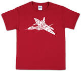 Youth: Fighter Jet Word art Shirt