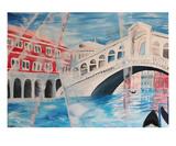 Venice, Rialto Bridge Premium Giclee Print by Martina Bleichner