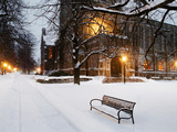 Boston College - Snow at Boston College Photographic Print