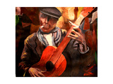 The Gitarrero - The Guitar Player Premium Giclee Print by Markus Bleichner
