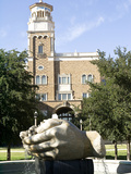 Texas Tech University - The Head Waters Fountain Fotografisk tryk