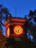 Washington State University - Neon Lights on Bryan Hall Clock Tower Photographic Print
