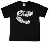 Youth: T REX Dinosaur Word art Camiseta