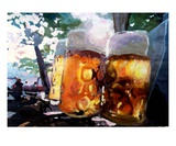 Masskrug In The Beer Garden Premium Giclee Print by Markus Bleichner