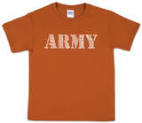 Youth: Army Word Art Shirt