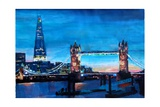 London Tower Bridge and The Shard at Dusk Premium Giclee Print by Markus Bleichner
