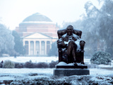 Duke University - Washington Duke Braves the Cold Photographic Print