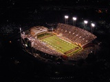 Wake Forest University - Night Aerial of BB&T Field Fotografisk tryk af John Grogan