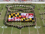 University of Maryland - Maryland Flag with the Band Fotografisk tryk