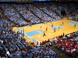 University of North Carolina - Women's Basketball vs Ncsu in the Dean E. Smith Center Fotografisk tryk