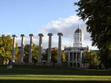 University of Missouri - Columns and Jesse Hall Photographic Print by Steve Malinowski