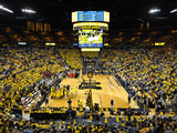 University of Michigan - The Crisler Center on Game Day Fotografisk tryk af Lance King