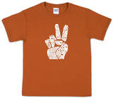 Youth: 'Give Peace a Chance' Peace Fingers T-Shirts