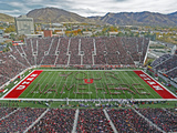 University of Utah - Your Name or Unique Message on the Field at Rice-Eccles Stadium Photographic Print