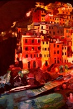 Magic Cinque Terre Night in Riomaggiore Premium Giclee Print by Markus Bleichner