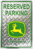 John Deere Reserved Parking Diamond Tin Sign