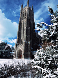 Duke University - Duke Chapel Snowed Under Photographic Print