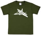 Youth: Fighter Jet Word art T-Shirt