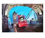 Tower Bridge and The Shard with Red London Bus Premium Giclee Print by Markus Bleichner