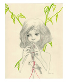 Knitting Premium Giclee Print by Helice Wen