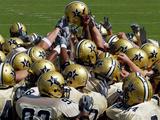 Vanderbilt University - Commodore Football Huddle Fotografisk tryk