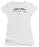 Juniors: Politician's Diapers T-Shirt