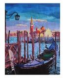 Venice from San Marco to San Giorgio Maggiore Premium Giclee Print by Markus Bleichner