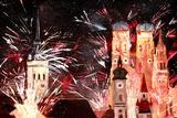 Fireworks in Munich Premium Giclee Print by Markus Bleichner