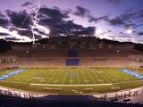 Air Force Academy - Lightening over Falcon Stadium Fotografisk tryk af Arnie Spencer