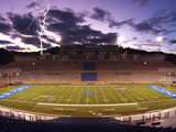 Air Force Academy - Lightening over Falcon Stadium Photographic Print by Arnie Spencer