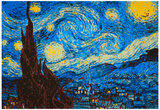 8-Bit Art The Starry Night artwork by Vincent van Gogh
