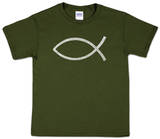Youth: Jesus Fish Word art Shirt